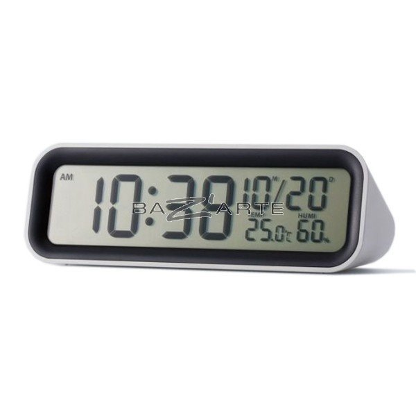 Emejing horloge thermometre digital design blanc opio for Thermometre digital cuisine
