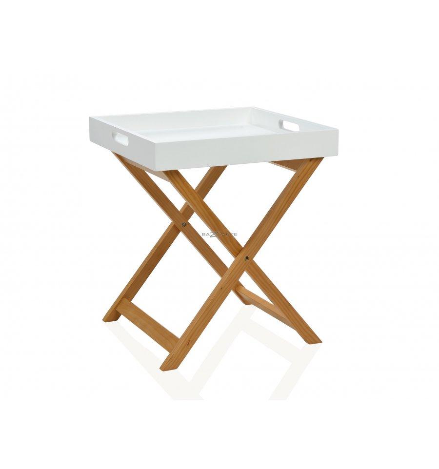 Table d 39 appoint pliable avec plateau bazarte objets et - Table d appoint pliable ...