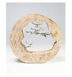 Decorative object - Birds in Log