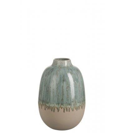 Vase transition en céramique ovale