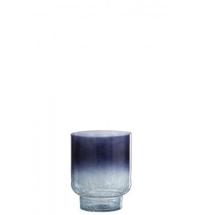 Vase rond avec pied  craquelé