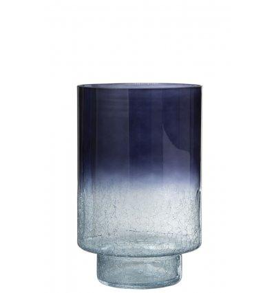 Vase rond avec pied craquelé - 39cm