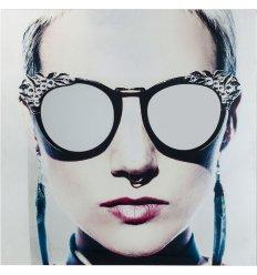 Tableau en verre - METALLIC GIRLIE - 120x120cm
