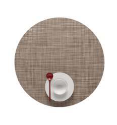 Set de table  - MINI BASKETWEAVE -rond - LINEN