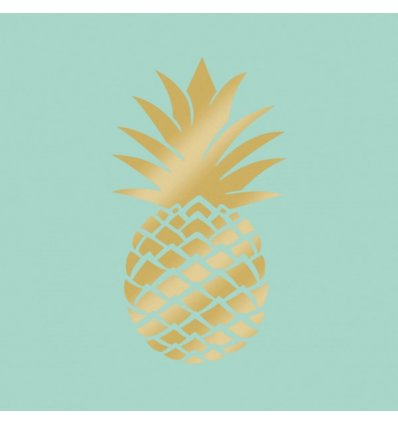 Serviette en papier - PINEAPPLE GOLD MINT - 33x33cm