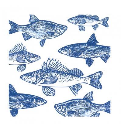 Serviette en papier - Graphic Fishes