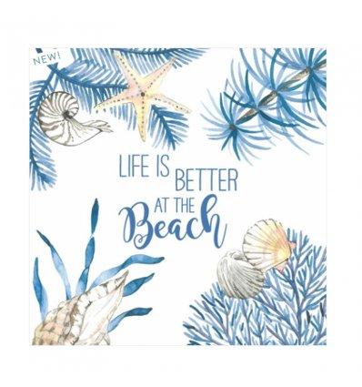 serviette en papier - Ocean Life is Better