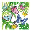 serviette en papier - Tropical Butterflies