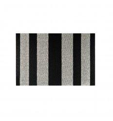 Tapis - Bold Stripe- Silver Black