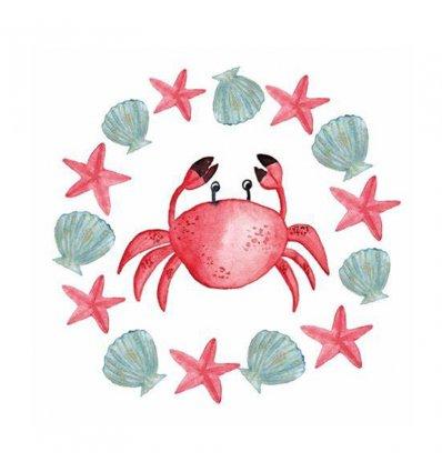 Serviette en papier - Le Crab