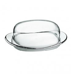 Dish butter transparent - LOOK - transparent and chrome ABS