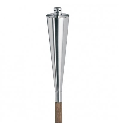 Outdoor torch - ORCHOS - Stainless steel matt and wood  and wood - Blomus
