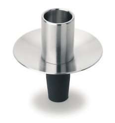Stainless steel cap candlestick