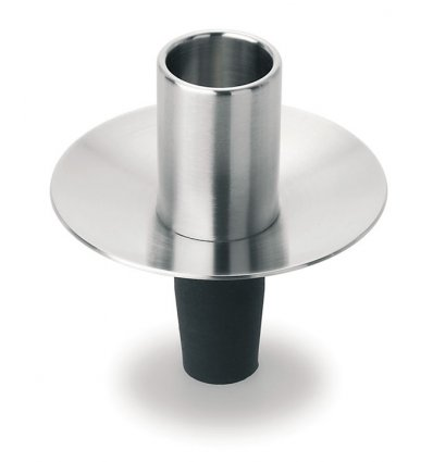 Stainless steel cap candlestick - Blomus