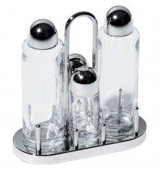 Miniature - Condiment set : oil, vinegar, salt and pepper