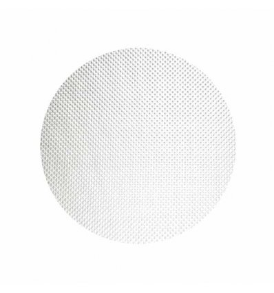 Round Placemat - BASKETWEAVE - white - Chilewich