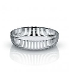 Pierced basket in polished stainless steel - Diameter 20cm.