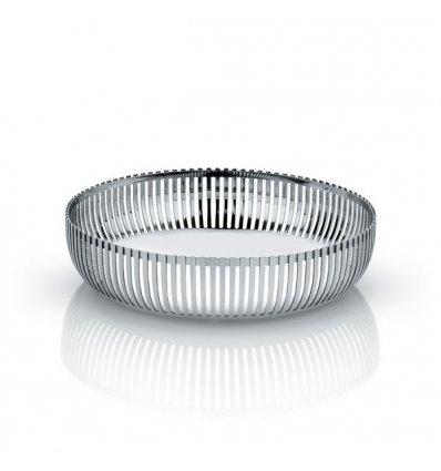 Alessi - Corbeille en acier inox brillant - Diamètre 20cm