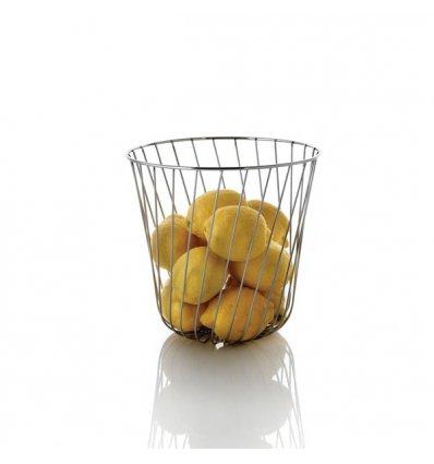 A di Alessi - Corbeille à fruit - A TEMPO - fils d'acier inoxydable - H 23 cm