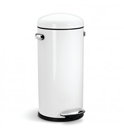 Round step can 30 liters -  RETRO - white - Simplehuman