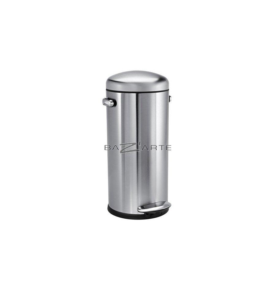 acheter poubelle de cuisine 30 litres retro ouverture par p dale inox par simplehuman chez. Black Bedroom Furniture Sets. Home Design Ideas