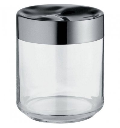 Kitchen box - JULIETA - 75 cl glass and stainless steel - Alessi