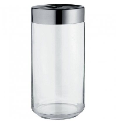 Kitchen box - JULIETA - 150 cl glass and stainless steel - Alessi