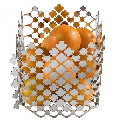 Fruit basket - BLOSSOM - polished stainless steel - Alessi