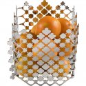 Porte-fruits - BLOSSOM - Acier inox brillant