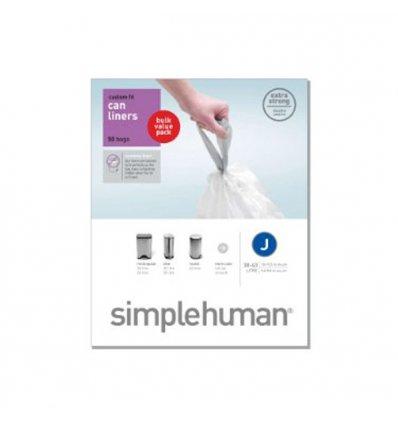 Simplehuman - Sacs poubelle x 20 - CODE J - blanc 38-40l