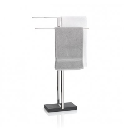 Towel stand - MENOTO - Stainless Steel and Polystone - Blomus