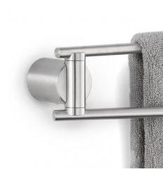 Porte-serviettes mural - DUO - 2 barres pivotantes- acier inoxydable