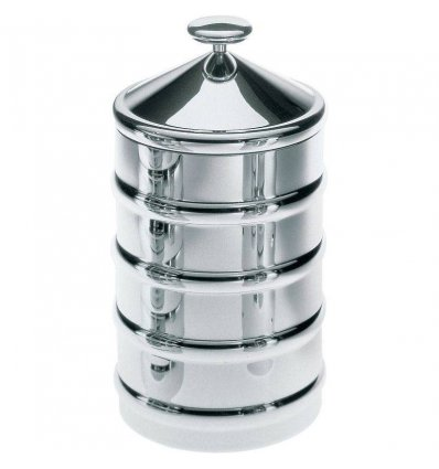 Food storage - KALISTO 3 - stainless steel H 20 cm - Alessi