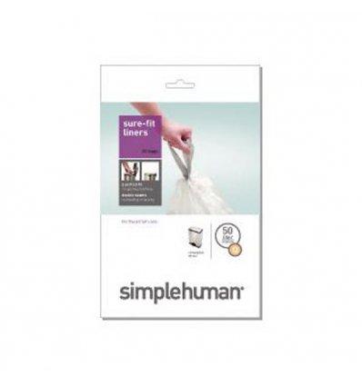 Simplehuman - Sacs poubelle x 20 - CODE Q - blanc 50l