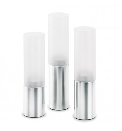 Set of 3 candle holders - Blomus