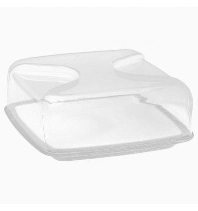 Guzzini - Boîte à fromage carrée - BOLLI - Porcelaine et plastique