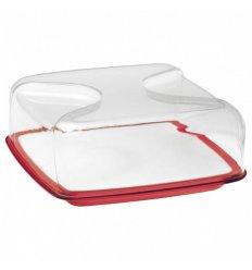 Boîte à fromage carrée - BOLLI - Porcelaine et plastique