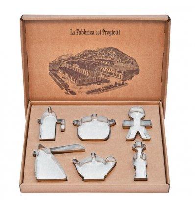Set of 6 cookie cutters - PROGIOTTI - A di Alessi