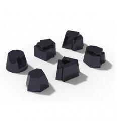 Set de 6 moules en silicone pour gâteau et verrines - IL TEMPO DELLA FIESTA