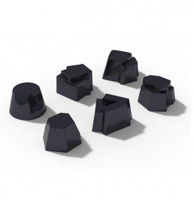 A di Alessi - Set de 6 moules en silicone pour gâteau et verrines - IL TEMPO DELLA FIESTA