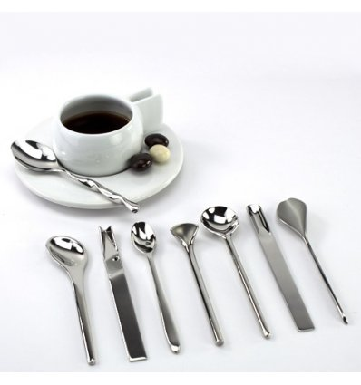 Set of 8 coffee spoons - IL CAFFE/TE - Alessi
