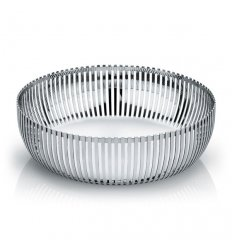Pierced basket in polished stainless steel  - Diameter 23cm.