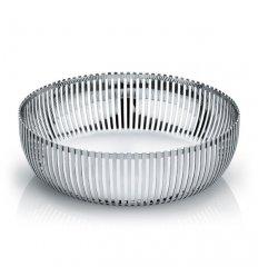 Pierced basket in polished stainless steel  - Diameter 23cm.