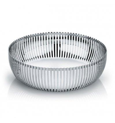 Alessi - Corbeille en acier inox brillant - Diamètre 23cm