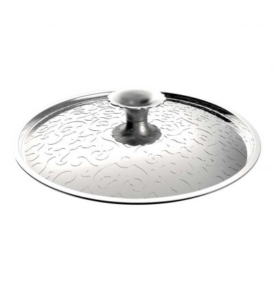 Cover with embossed decoration - DRESSED - Diam 20 cm - Alessi