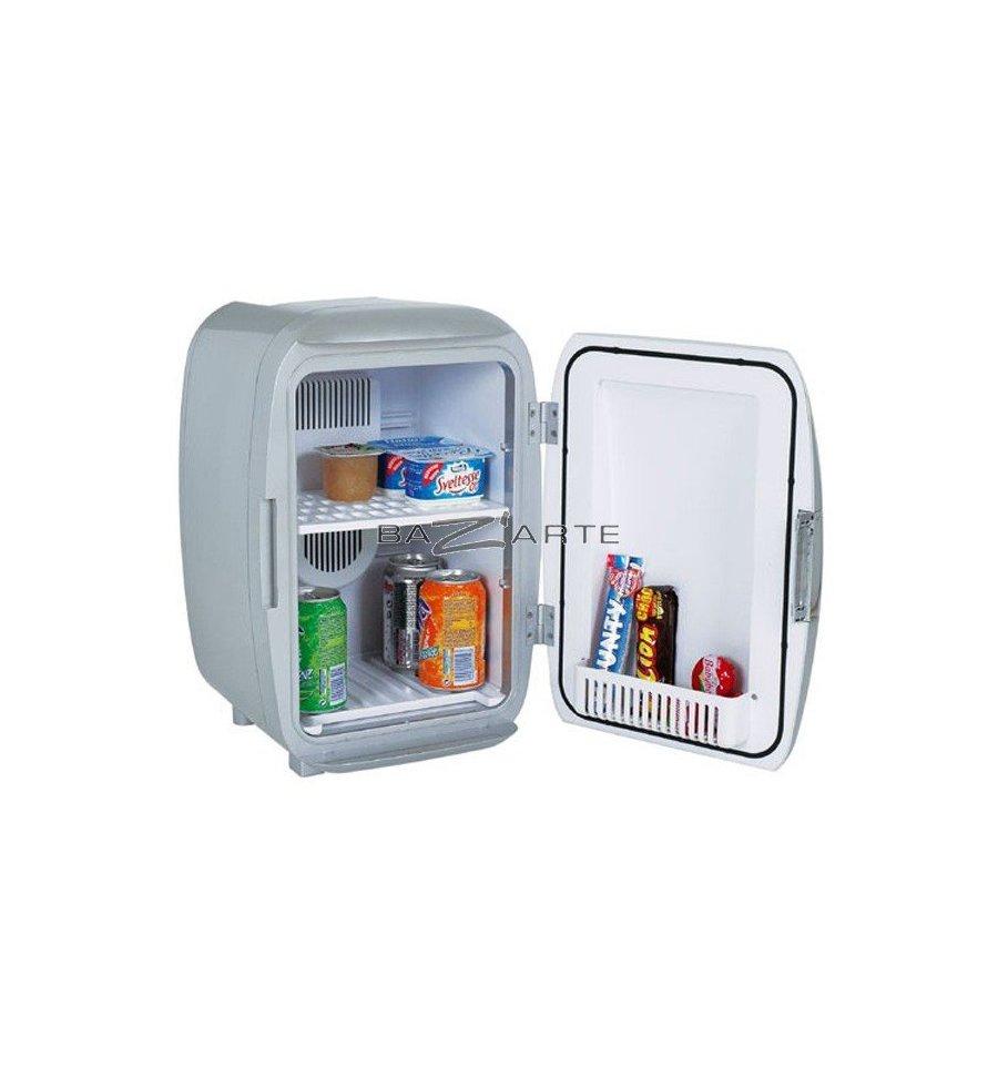 acheter mini frigo white fox coloris argent par la chaise longue chez bazarte objets et. Black Bedroom Furniture Sets. Home Design Ideas