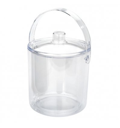 Double wall ice bucket with lid - BASIC-Transparent - Leopold