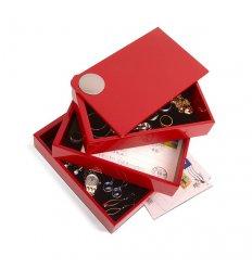 Boîte à bijoux pivotante et magnétique - 3 compartiments