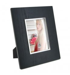Picture Frame - SEQUENCE - black wood - for a photo 13x18 cm
