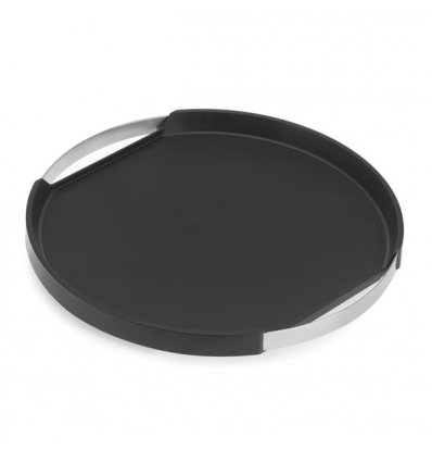 Anti-slip tray round - PEGOS - Diameter 40 cm - stainless steel, silicone, plastic - Blomus